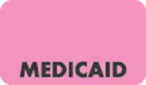 """Medicaid"" Label - Fl. Pink - 1-1/2"" x 7/8"" - 250/Roll"