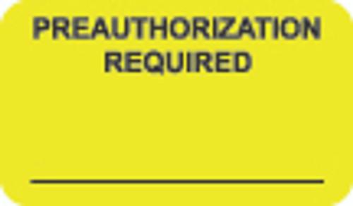 Preauthorization Label