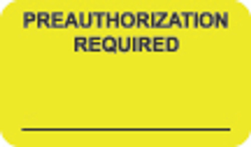 Preauthorization Label