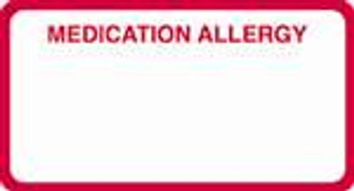 Medication Allergy Label