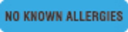 No Known Allergies Label 1