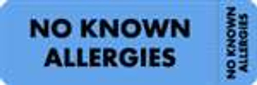 No Known Allergies Label 2