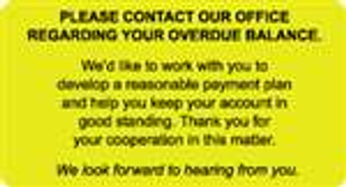 Please Contact Our Office Label