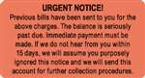 Urgent Notice Label
