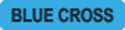 """Blue Cross"" Label - Light Blue - 1/1/4"" x 5/16"" - 500/Box"