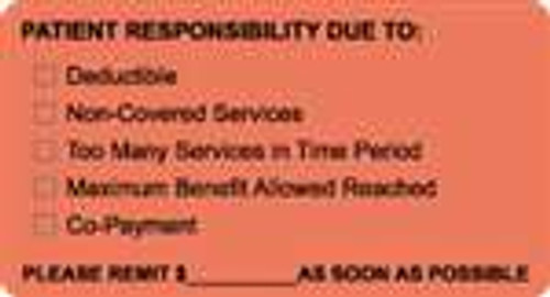 Patient Responsibility Due To: Label