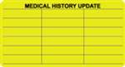 Medical History Update Label