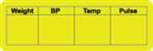 Weight BP Temp Pulse Label