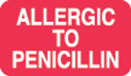 Allergic To Penicillin Label 1