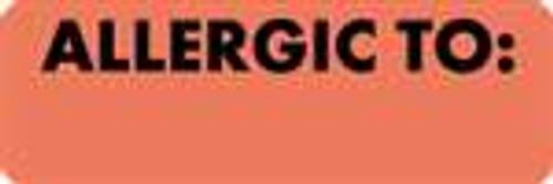 Allergic To: Label 3