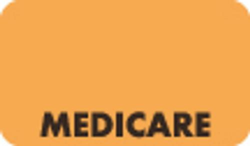 """Medicare"" Label - Fl. Orange - 1-1/2"" x 7/8"" - 250/Box"