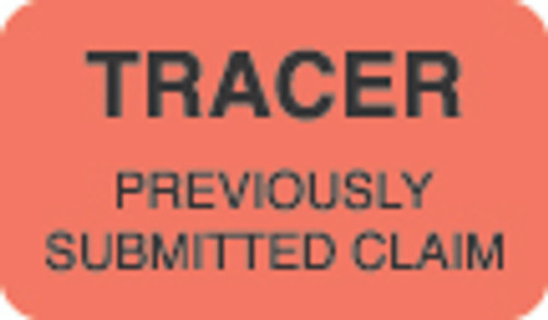 """""""Tracer"""" Label  - Fl. Red - 1 1/2"""" x 7/8"""" - Box of 250"""
