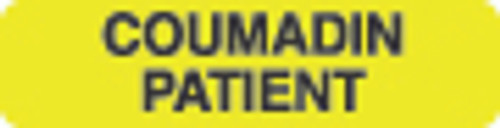 Coumadin Patient Label 1