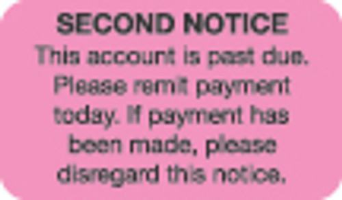 Second Notice Label