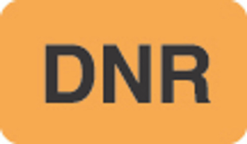 """DNR"" Label - Fl. Orange - 1-1/2"" x 7/8"" - 250 Labels/Box"