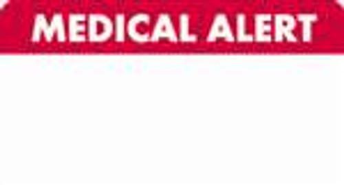 Medical Alert Label 3