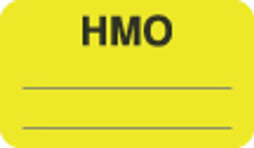"""""""HMO"""" Label - Fl. Chartreuse - 1 1/2"""" x 7/8"""" - Box of 250 MAP1620"""