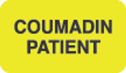 Coumadin Patient Label