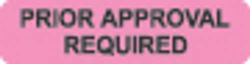 """""""Prior Approval Required"""" Label - Fl. Pink - 1 1/4"""" x 5/16"""" - Box of 500"""