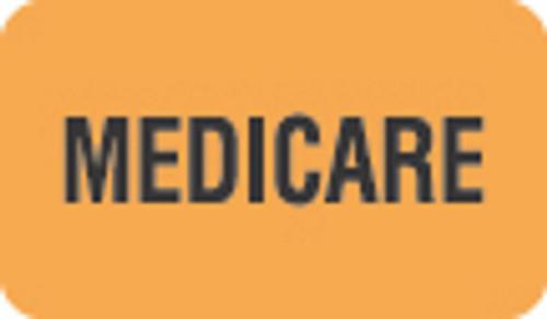 """Medicare"" Label - Fl. Orange - 1 1/2"" x 7/8"" - Box of 250"