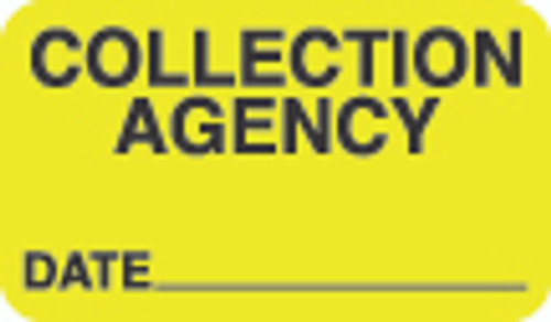 Collection Agency Label