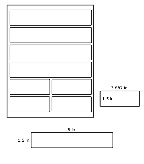 LabelsAnywhere - Inkjet 4x4 Mixed Sheet