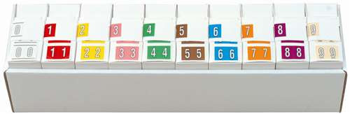 Kardex Numeric Label - PSF-138 Series (Rolls) - 0-9 Set with tray