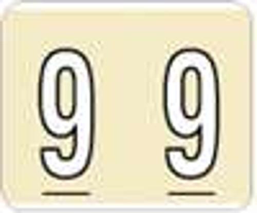Kardex Numeric Label - PSF-138 Series (Rolls) - 9 - Tan
