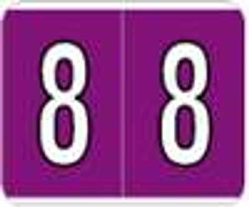 Kardex Numeric Label - PSF-138 Series (Rolls) - 8 - Purple