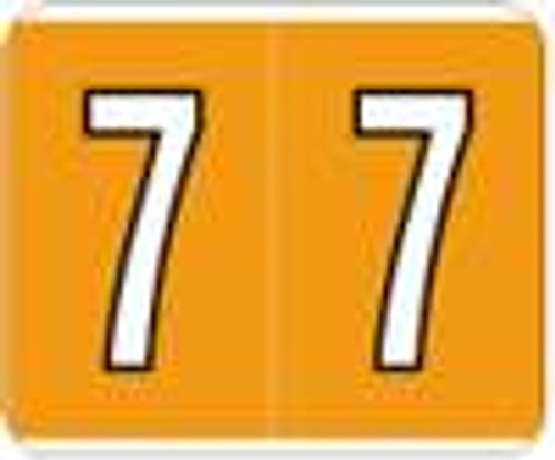 Kardex Numeric Label - PSF-138 Series (Rolls) - 7 - Orange