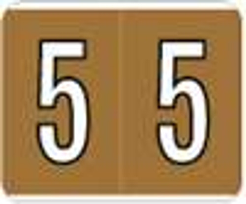 Kardex Numeric Label - PSF-138 Series (Rolls) - 5 - Brown