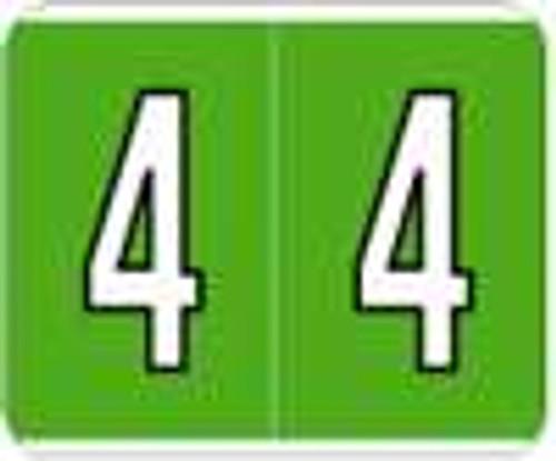 Kardex Numeric Label - PSF-138 Series (Rolls) - 4 - Green