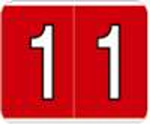 Kardex Numeric Label - PSF-138 Series (Rolls) - 1 - Red