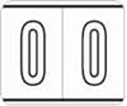 Kardex Numeric Label - PSF-138 Series (Rolls) - 0 - Black/White