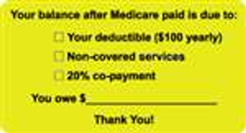Your Balance After Medicare Paid Label