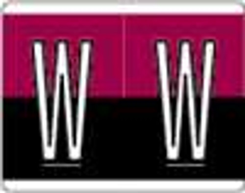 Kardex Alphabetic Labels - PSF-139 Series (Rolls) W