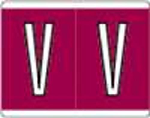 Kardex Alphabetic Labels - PSF-139 Series (Rolls) V