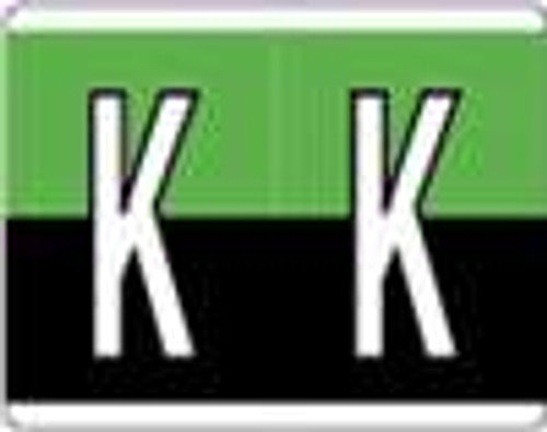 Kardex Alphabetic Labels - PSF-139 Series (Rolls) K