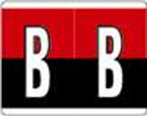 Kardex Alphabetic Labels - PSF-139 Series (Rolls) B