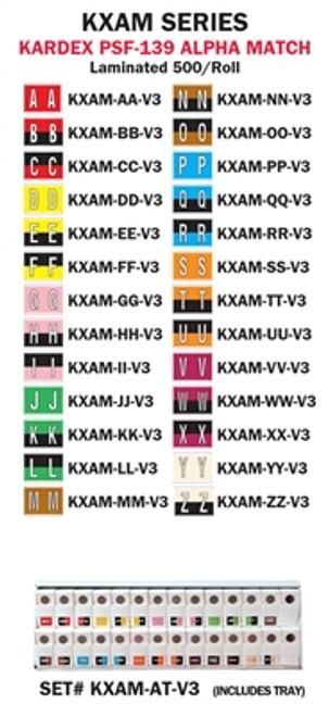"Kardex ""A-Z"" Alpha Set;  Tray included"