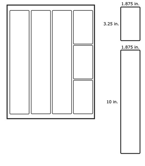 LabelsAnywhere - Inkjet 3x3 Mixed Sheet