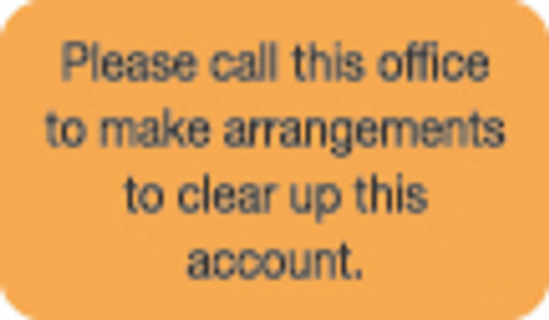 Please Call This Office Label