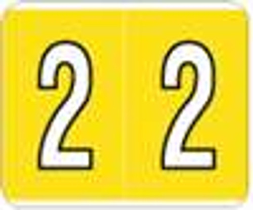 Kardex Numeric Label - PSF-138 Series (Rolls) - 2 - Yellow