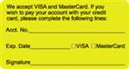 We Accept Visa and Mastercard Label