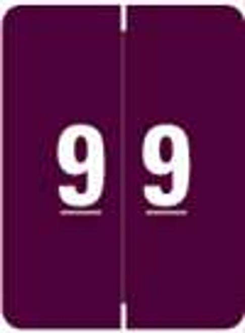 Kardex Numeric Label - KDNM Series (Rolls) - 9 - Purple
