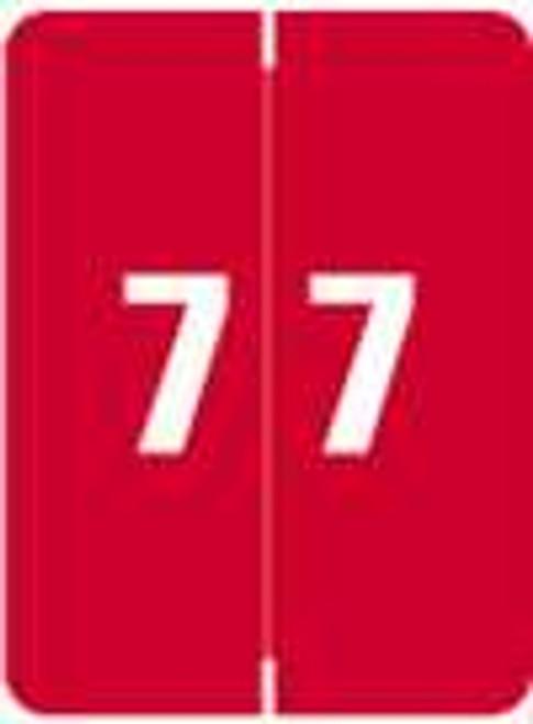 Kardex Numeric Label - KDNM Series (Rolls) - 7 - Red