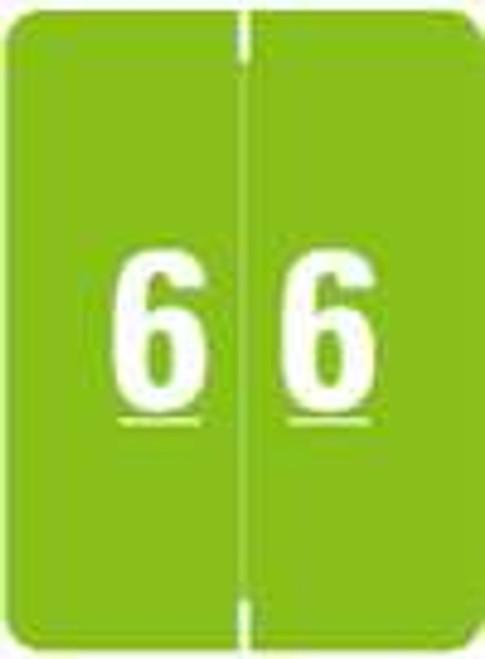 Kardex Numeric Label - KDNM Series (Rolls) - 6 - Green