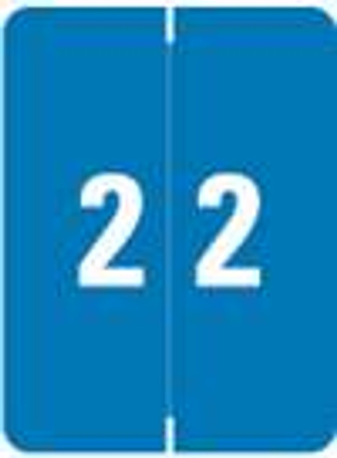 Kardex Numeric Label - KDNM Series (Rolls) - 2 - Blue