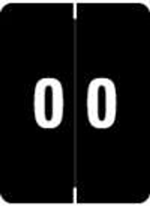 Kardex Numeric Label - KDNM Series (Rolls) - 0 - Black