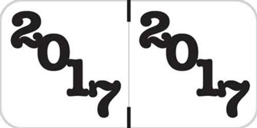 Jeter Yearband Label (Rolls of 500) - 2017 - White - JTYM Series - Laminated